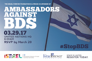 Become an Ambassador Against BDS at the United Nations!