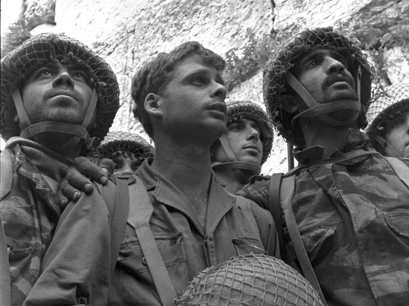Israeli paratroopers stand in front of the Western Wall in Jerusalem June 1967. Copyright  David Rubinger GPO
