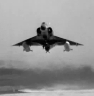 A Mirage Plane Taking Off From An Israeli Air Force Base During Operation Focus
