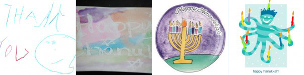 Children's Chanukah cards
