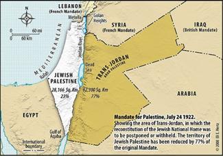 1922 Mandate for Palestine