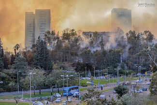 Great fire in Haifa, 24 November 2016