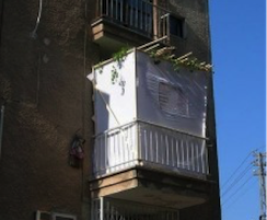 Apt Balcony Sukkah (photo credit: Judy Lash Balint)