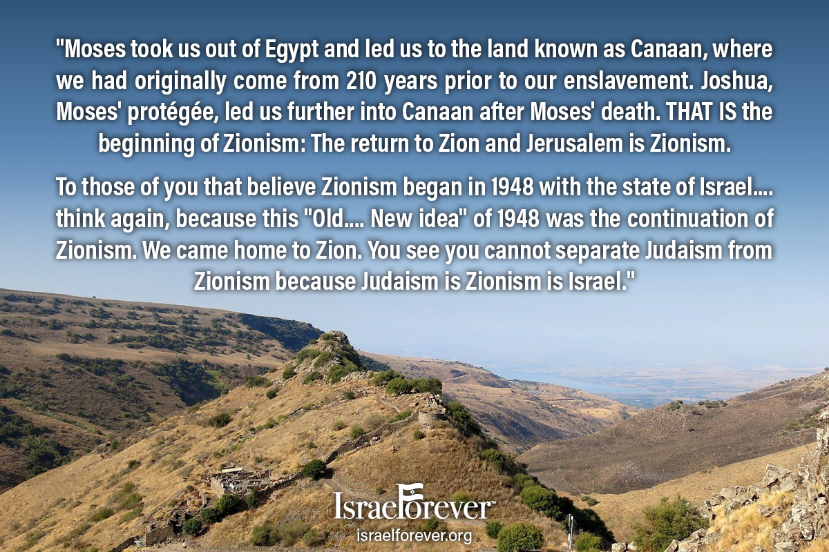 Judaism is Zionism is Israel Passover Quote