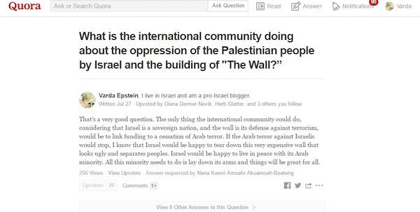 Quora Screenshot Varda Epstein