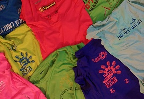 Running race shirts