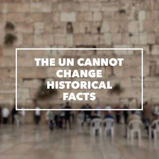 The UN cannot change historical facts