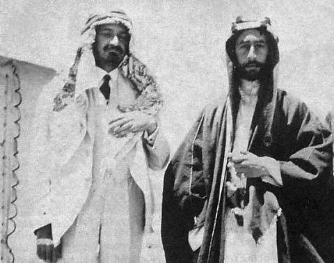 Emir Feisal and Chaim Weizmann, 1918.