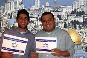 Zeta Beta Tau Brothers Raise Their Flags for Israel