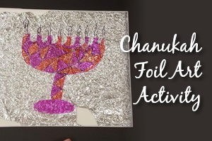 Chanukah Foil Art