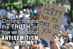 Circling the Truth on How We feel About Antisemitism Activity