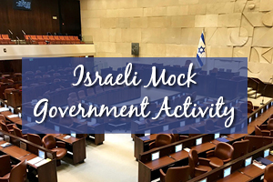 Israeli Mock Government Activity