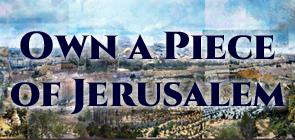 Own a Piece of Jerusalem