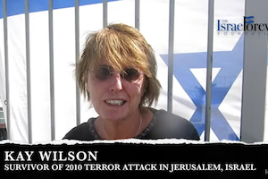Kay Wilson, Survivor of 2010 Terror Attack in Jerusalem, Israel