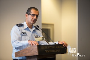 Brig. Gen. Shaharabani at L'Chaim to Lone Soldiers at The Embassy of Israel