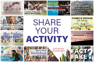 SHARE YOUR ACTIVITY WITH ISRAEL FOREVER