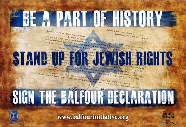 Israel Forever, Balfour initiative