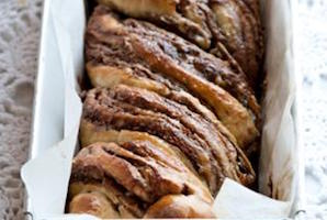 Chocolate and Halva Babka