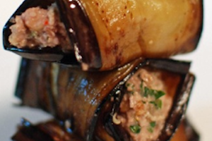 Eggplant Rolls Filled with Beef Tartare: A PUZZLE ISRAEL Recipe