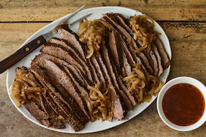Slow Braised Brisket and Onions by Jamie Geller