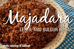 Majadara - Lentils and Bulgur Wheat