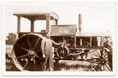 One of the Cucuy family tractors used for plowing