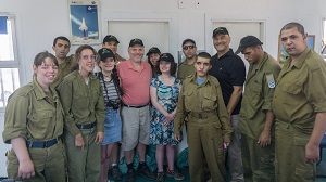 Daroff Family visiting a unit of Special in Uniform