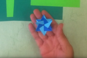 Create your own origami Star of David