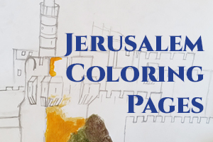 Jerusalem coloring pages