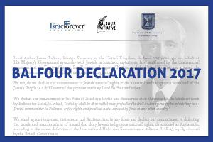 Balfour Declaration 2017