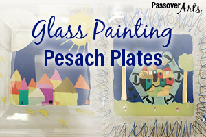 Glass Painting Pesach Plates