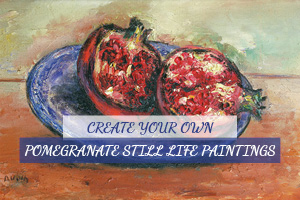 Pomegranate Still Life Paintings By Reuven Rubin