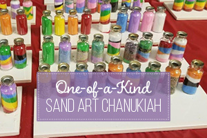 One of a kind Sand Art Chanukiah