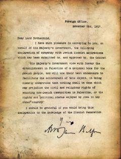 1917, Balfour Declaration