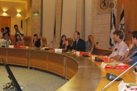 SCIL participants meeting with Jerusalem Mayor Nir Barkat