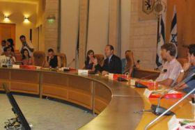 SCIL participants meeting with Jerusalem Mayor Nir Barkat