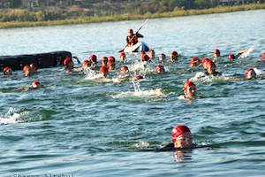 Swimming the Kinneret to Aid Special Needs Young Adults