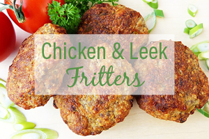 Chicken and Leek Fritters